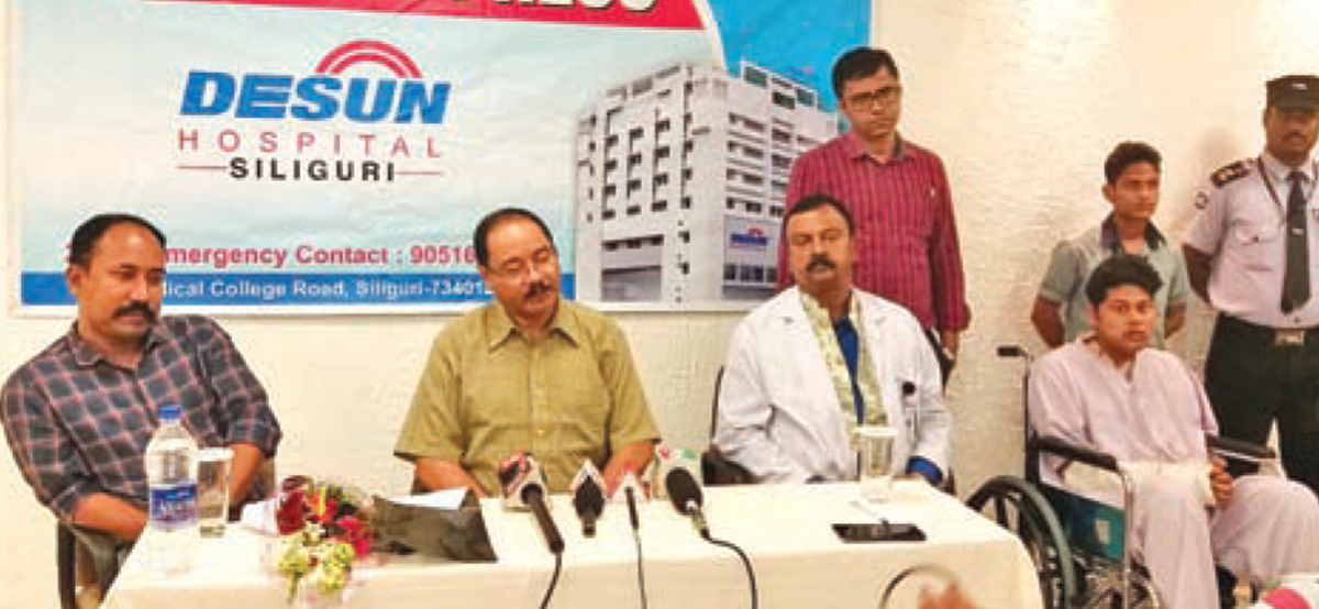 DESUN Hospital, Siliguri saves Young Life Performing Lifesaving Trauma Surgery - Press Meeting 1
