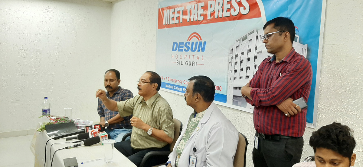 DESUN Hospital, Siliguri saves Young Life Performing Lifesaving Trauma Surgery - Press Meeting 4