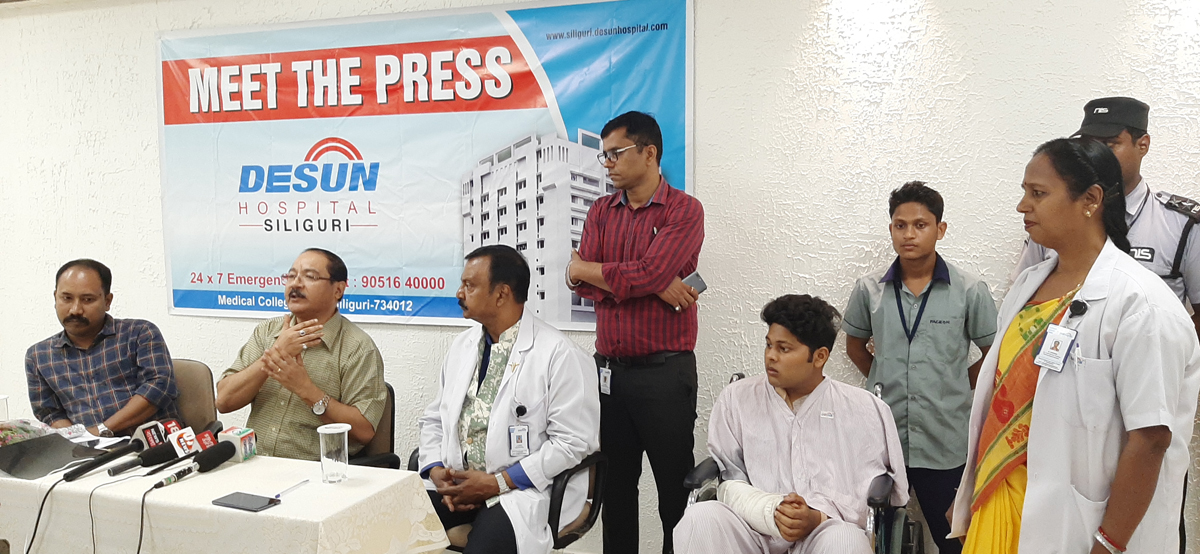 DESUN Hospital, Siliguri saves Young Life Performing Lifesaving Trauma Surgery - Press Meeting 5