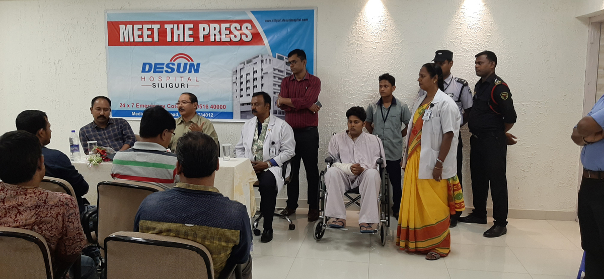 DESUN Hospital, Siliguri saves Young Life Performing Lifesaving Trauma Surgery - Press Meeting 6