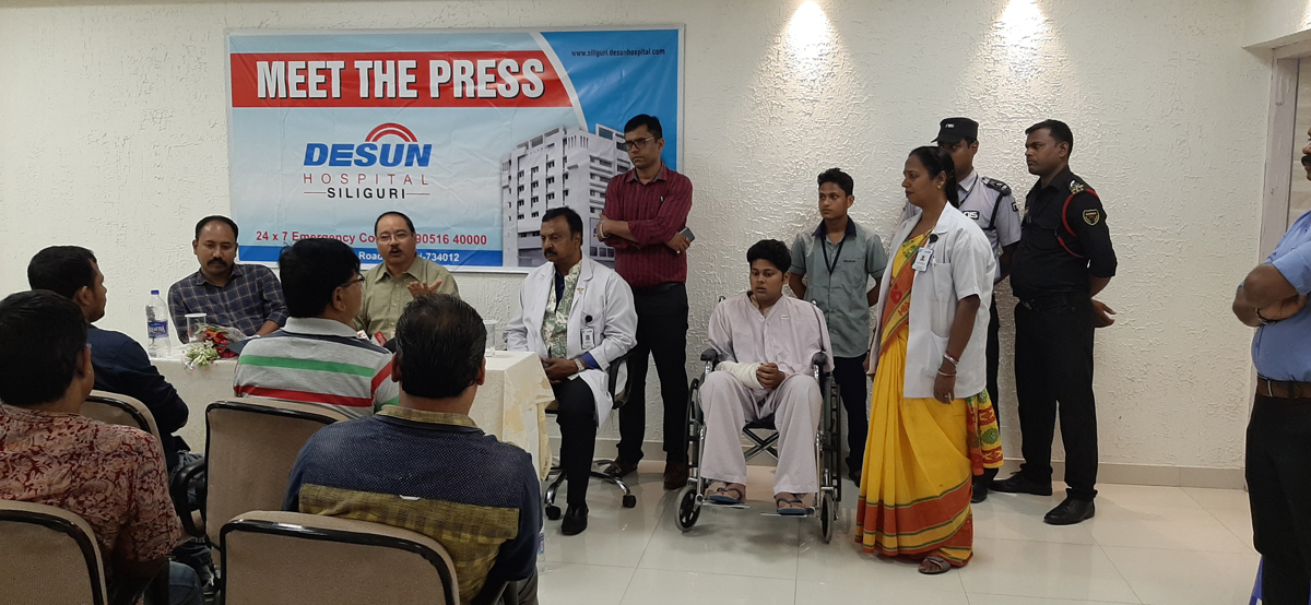 DESUN Hospital, Siliguri saves Young Life Performing Lifesaving Trauma Surgery - Press Meeting 7