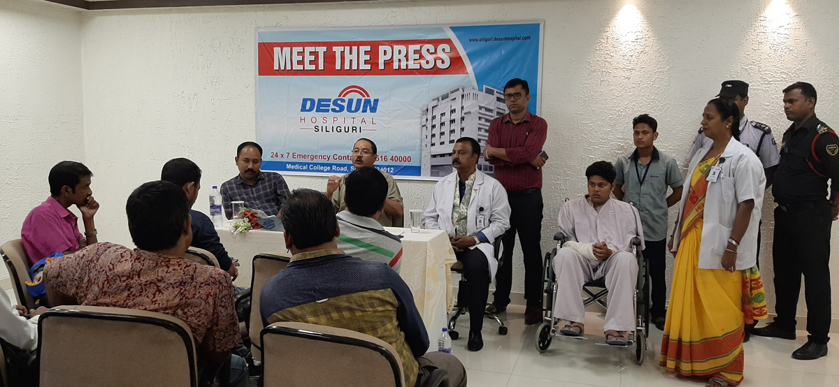 DESUN Hospital, Siliguri saves Young Life Performing Lifesaving Trauma Surgery - Press Meeting 8