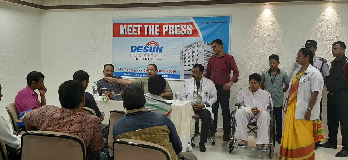 DESUN Hospital, Siliguri saves Young Life Performing Lifesaving Trauma Surgery - Press Meeting 9