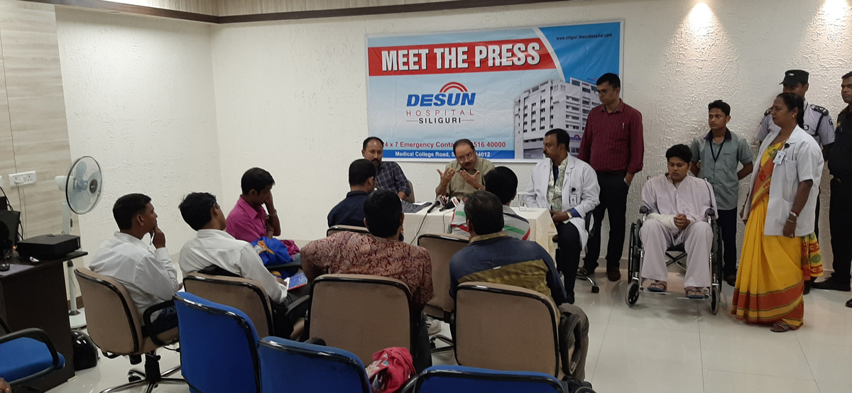 DESUN Hospital, Siliguri saves Young Life Performing Lifesaving Trauma Surgery - Press Meeting 10